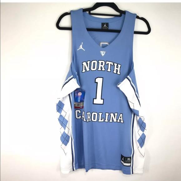 f47cb53d0815a2 Nike NC Tar Heels  1 Jordan Basketball Jersey